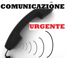 Comunicazione urgente RIFATTO